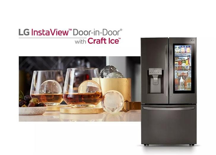 LG将推智能冰箱:搭载22英寸触摸屏,可以实时显示冰箱里的东西