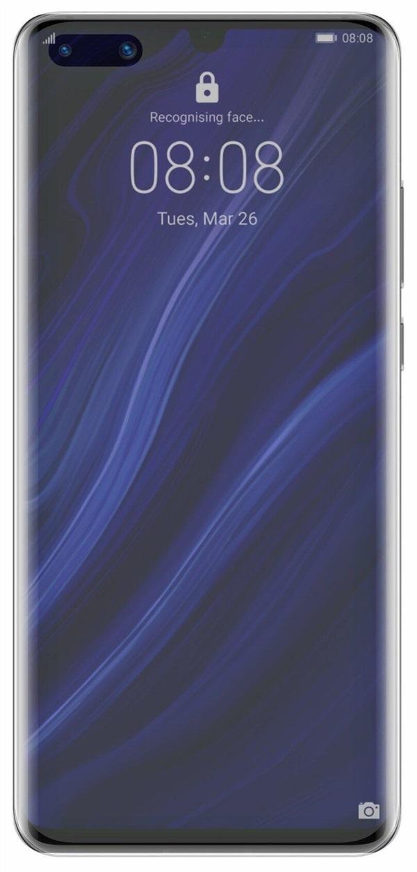 华为P40 Pro对比渲染图曝光:双孔全面屏设计
