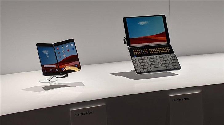 微软Surface Neo 双屏专利曝光:一屏显示 一屏输入