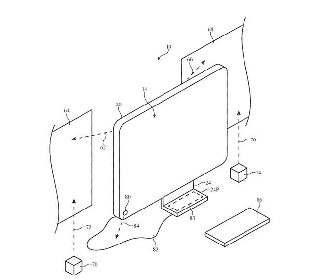 苹果新专利:iMac可将显示器投影扩展到附近墙壁上
