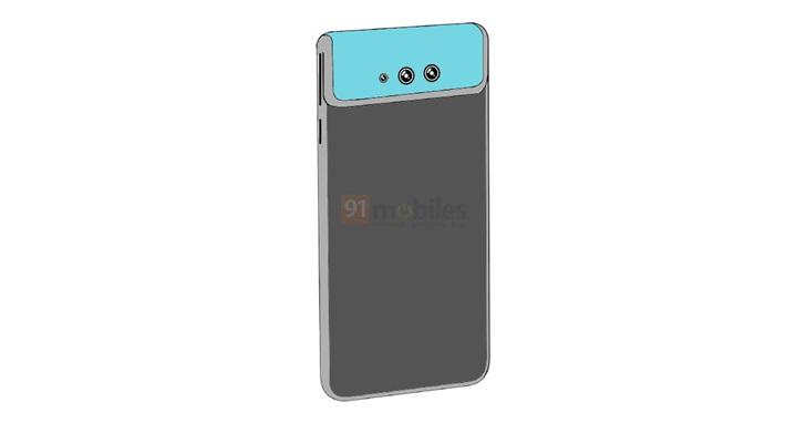 小米手机新专利:翻转柔性屏摄像头设计