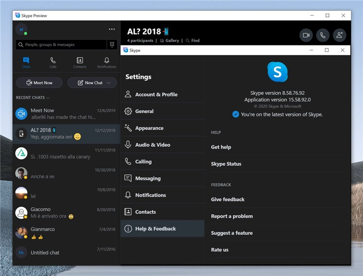 微软 Skype预览升级替换为Electron 桌面版本
