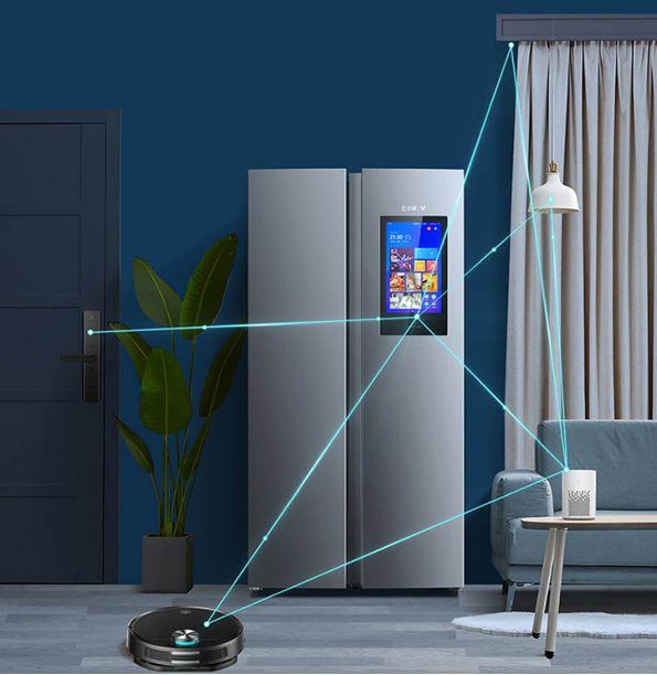 云米互动大屏冰箱 加宽纤薄设计更实用